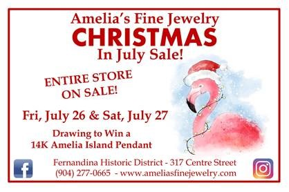 Amelia's Fine Jewelry Christmas in July flyer
