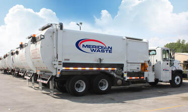 Meridian Waste trucks